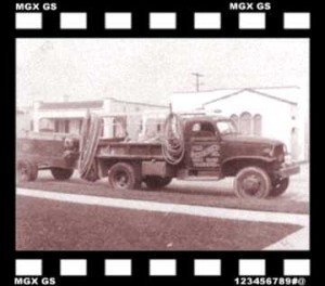One of dad's old sandblasting rigs - 1943 Los Angles